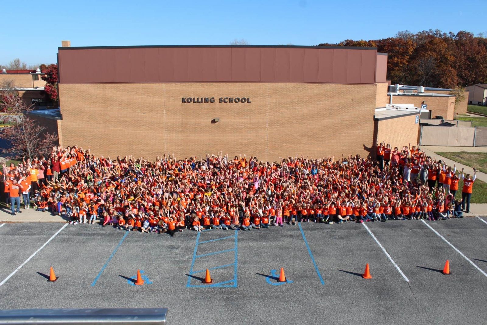 Kolling students wear orange for Bully Prevention