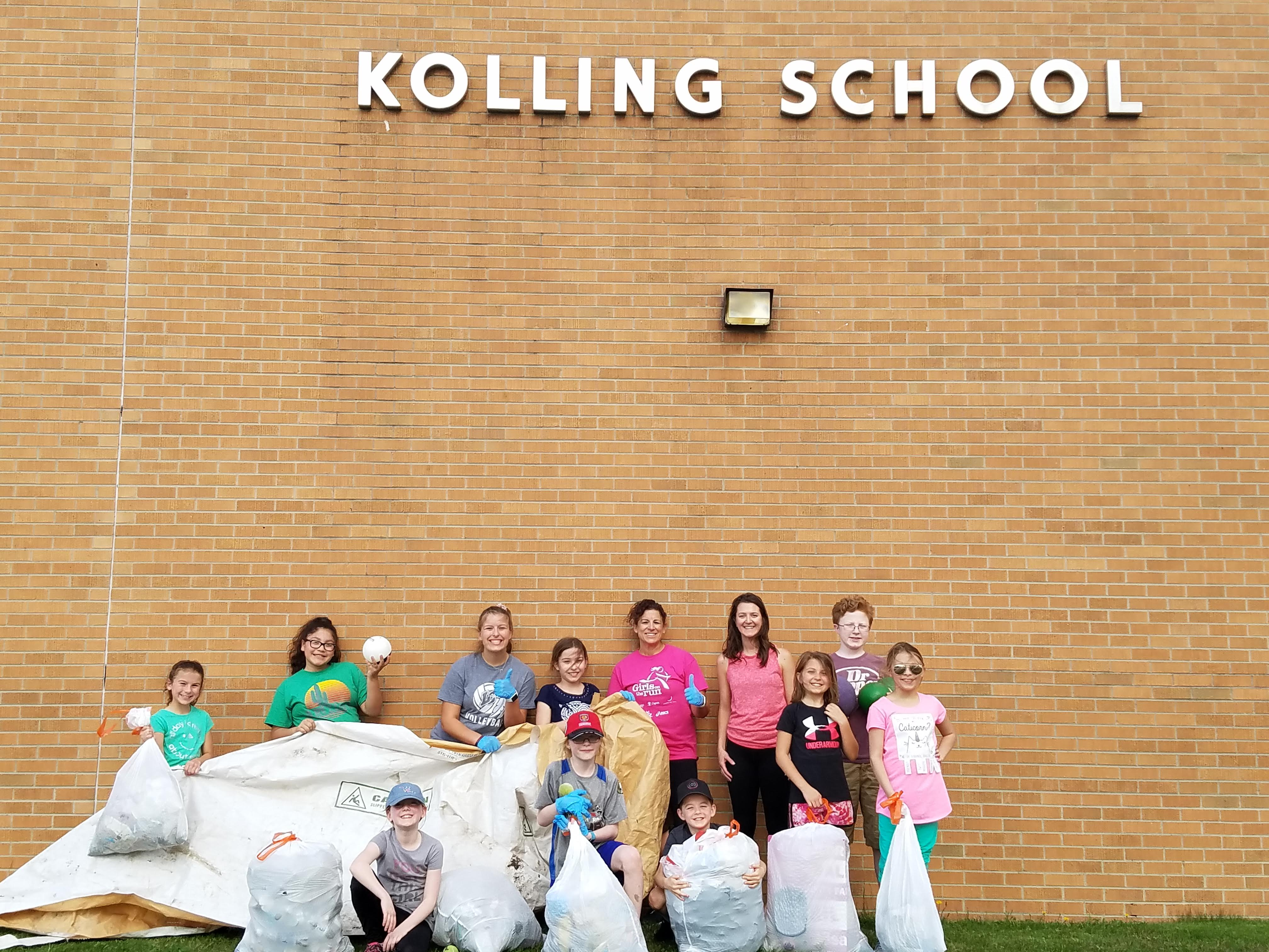 Student-led Earth Day Clean-up at Kolling Elementary