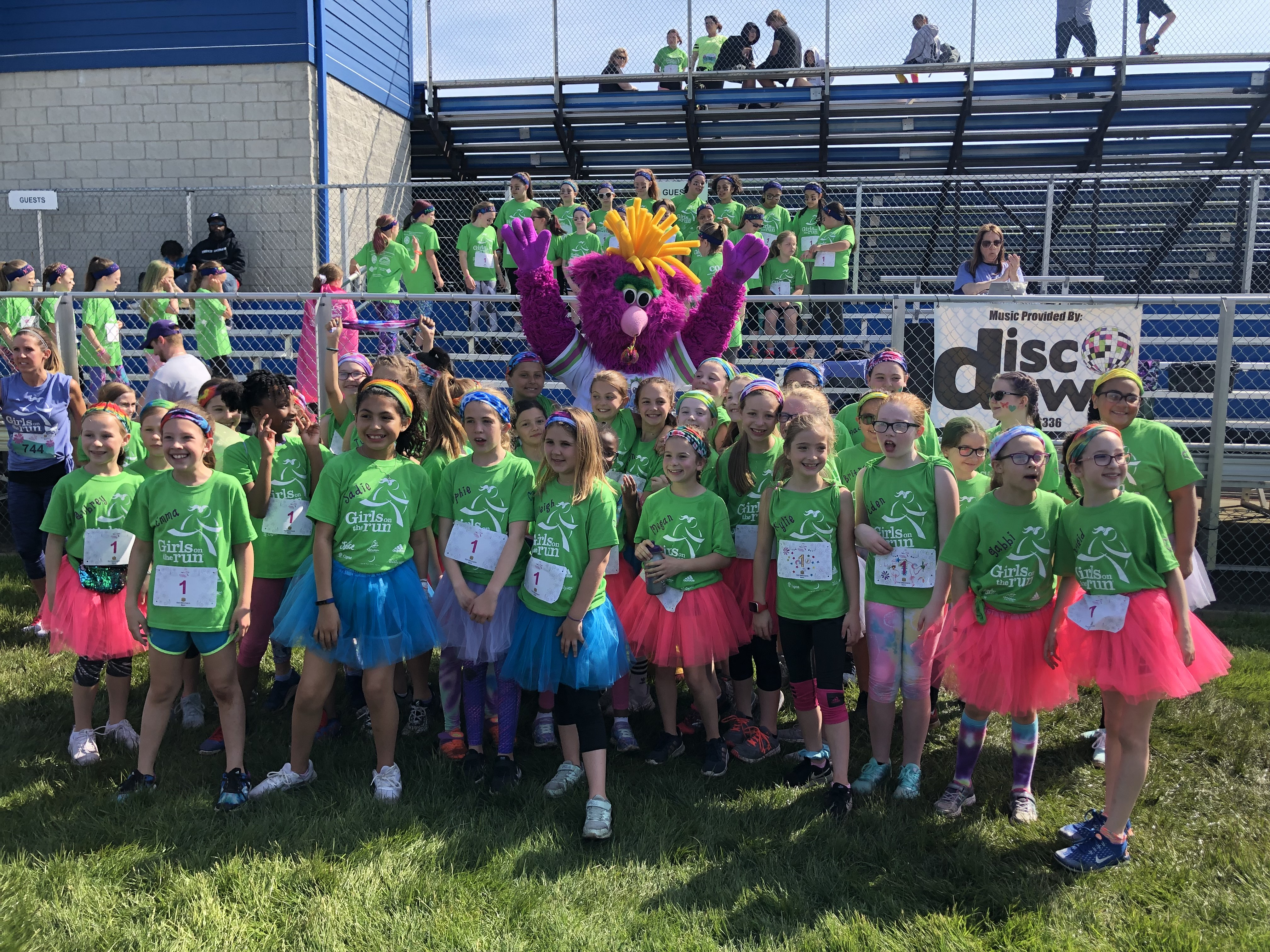Girls from Kolling Elementary at their Girls on the Run 5K