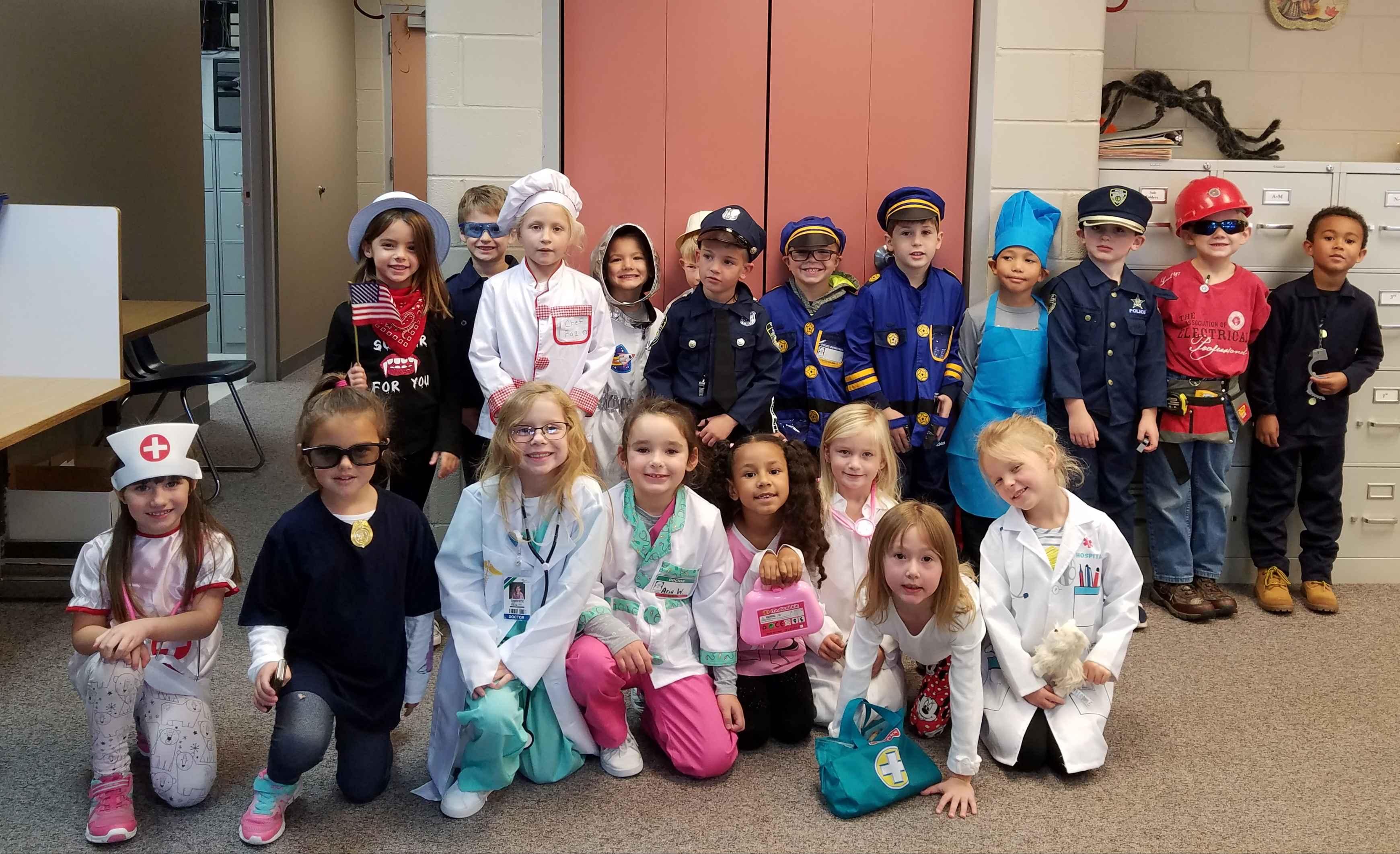 Mrs. Waechter's kindergarten class celebrates Community Helpers